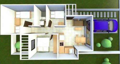 Planos de las casas que están construyendo para los afectados. (Foto: CIV)