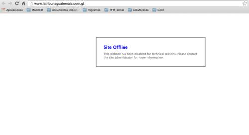 El sitio web de La Tribuna se encuentra fuera de línea.