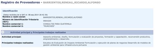El viceministro registra contratos con el gobierno por 3 millones 384 mil quetzales.