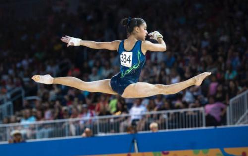 La gimnasta Ana Sofía Gómez es una de las clasificadas a las olimpíadas.  (Foto: COG)