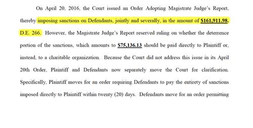 El documento impone sanciones a los demandados, incluidos los ejecutivos y el Banco, por 161 mil 911 dólares.