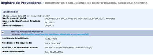 La empresa fue la única que presentó una oferta. (Foto: Guatecompras)