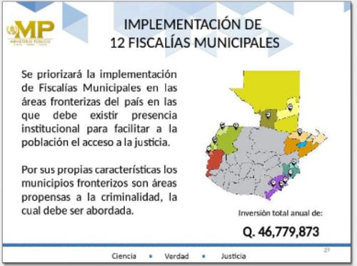 Con la ampliación de fiscalías se pretende cubrir las áreas fronterizas. (Foto: MP)