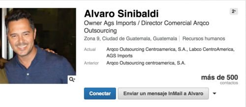 Imagen del perfil de Linkedin de Álvaro Sinibaldi.