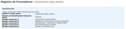 Información del implicado en Guatecompras. (Foto: Guatecompras)