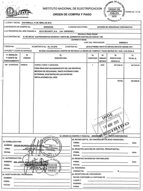 Información contractual. (Foto: Soy502)