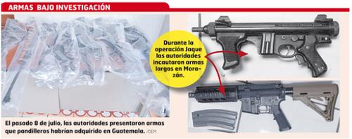 Imagen de las armas decomisadas. (Foto: El Mundo)