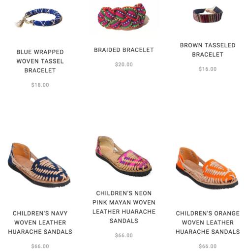 Sandalias y pulseras en venta en el sitio web de la marca. (Imagen: Ix Style)