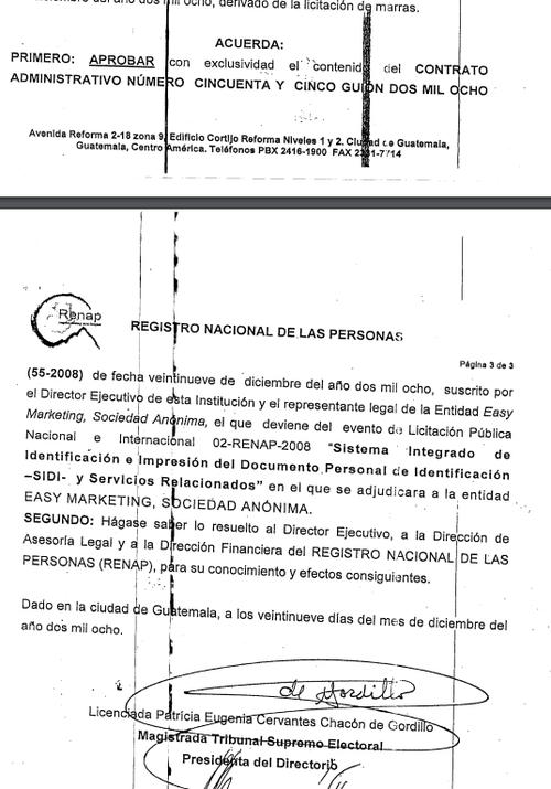 Aprobación del contrato en 2008.
