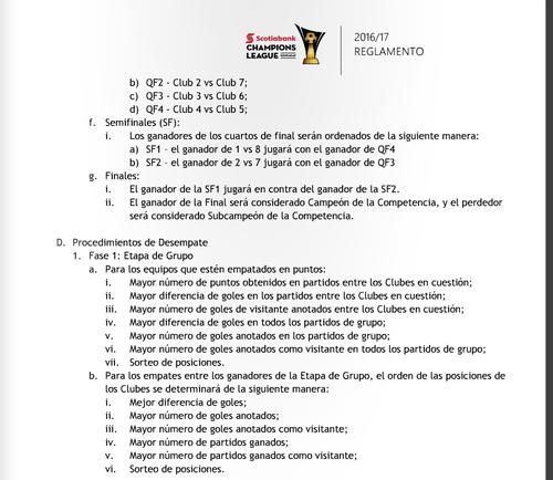 Lo que dice el reglamento si hay empate en puntos. (Foto: Tomado del sitio www.concacaf.com)