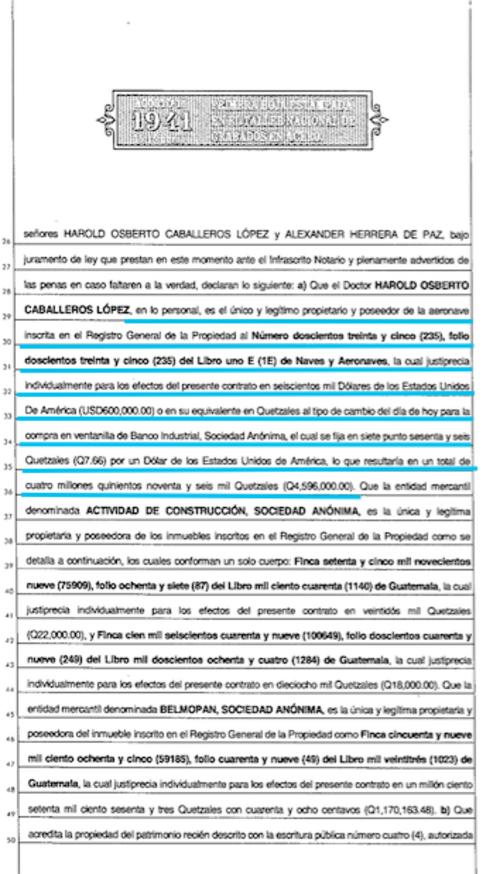 El contrato del fideicomiso se firmó el tres de marzo de 2011. (Imagen: Soy502/Registro de la Propiedad)