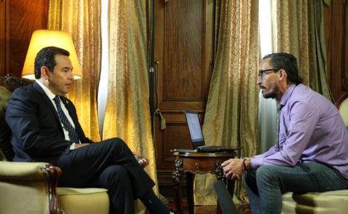 Morales concedió una entrevista al periodista español Asier Vera. (Foto: AGN)
