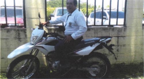 Esta es una de las motocicletas que compró la Municipalidad de Morales, Izabal. (Foto: captura de pantalla)