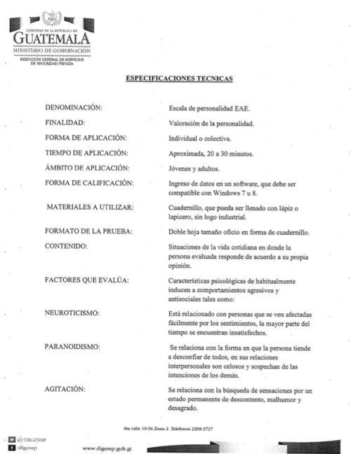 El programa para efectuar pruebas psicológicas costó 85 mil quetzales. (Foto: captura de pantalla)