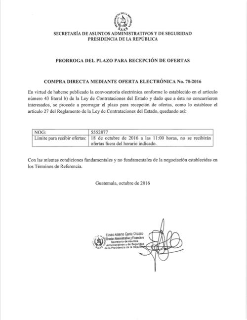 En octubre, la SAAS prorrogó el plazo para presentar ofertas. (Foto: captura de pantalla)