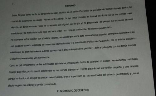 Esta es parte de la nota donde se lee la descripción que hace el mexicano Javier Duarte.