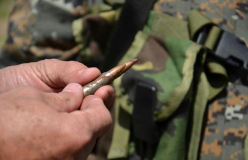 Los elementos del Ejército localizaron casquillos de bala. (Foto: Ejército)