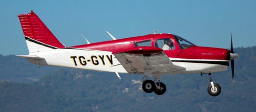La aeronave tenía matrícula TG-GYV