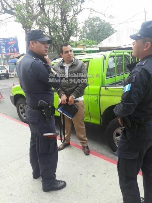 Las autoridades detuvieron a William Augusto Valdez Figueroa de 26 años, acusado de cometer acoso sexual contra una pasajera del Transmetro. (Foto: @PampichiNews)