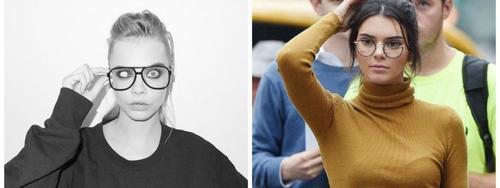 Según los expertos de la moda, ambas celebridades lucen atractivas aun luciendo lentes.