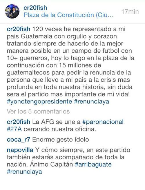El mensaje de Carlos el Pescado Ruiz fue claro y contundente.