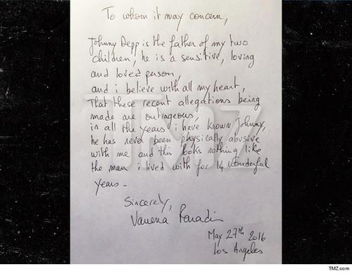 Esta es la carta de su expareja firmada el 27 de mayo. (Foto: TMZ)