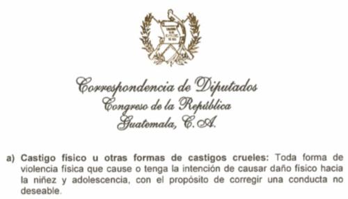 Esta es la definición de castigo físico que se incluye en la iniciativa de ley. (Foto: José Miguel Castañeda/Soy502)