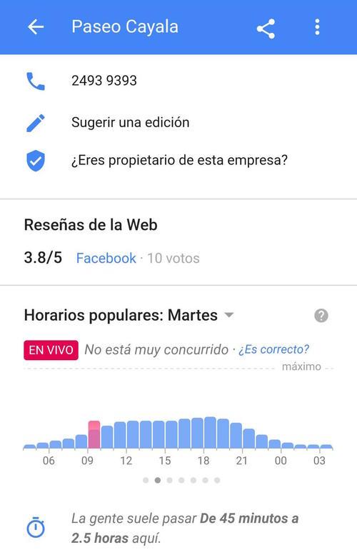 Los resultados de Paseo Cayalá. (Imagen: captura de pantalla)