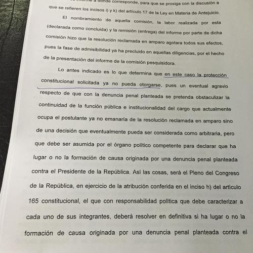 La CC explica por qué no procede otorgar el amparo al mandatario Otto Pérez Molina.   (Foto: Evelyn de León/Soy502)