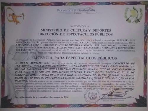 Licencia otorgada por el Ministerio de Cultura. (Foto Emisoras Unidas)