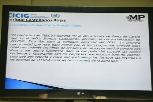 Esta es la información que el MP y CICIG presentaron en la audiencia de primera declaración del exgerente de Telgua. (Foto: Wilder López/Soy502)