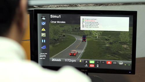 El simulador de camiones de Grupo Progreso permite realizar un diagnóstico a los pilotos a través de un escenario virtual. (Foto: Soy502).