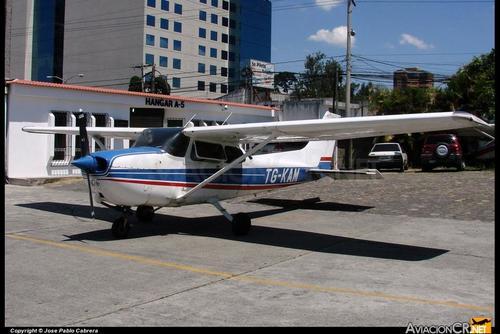 Esta es una fotografía de la avioneta que se estrelló este domingo. (Foto: DGAC)
