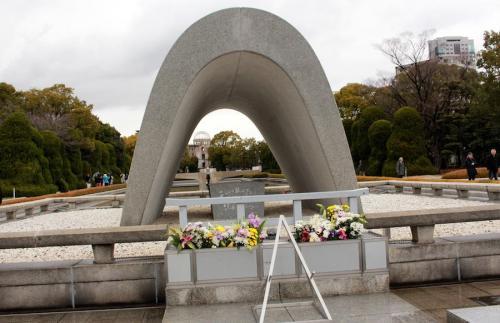 Bajo ese arco están grabado los nombres de todas la víctimas de Hiroshima: suman cerca de 300 mil. (Foto: Cortesía Juan Carlos Sandoval)