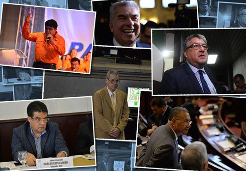 Ellos son los diputados beneficiados con la resolución de la CSJ. (Imagen: Soy502)