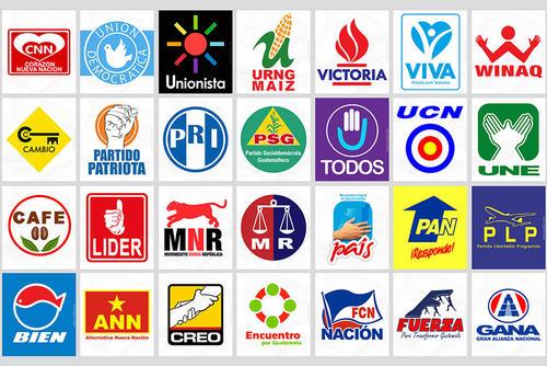 Estos son los símbolos de los partidos políticos actuales. A ellos se sumarán dos partidos nuevos.