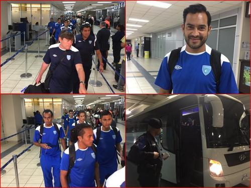 La Bicolor guatemalteca a su llegada a la ciudad de Panamá para enfrentar este miércoles a los canaleros en el estadio Maracaná. (Foto: Isaac Barajas)