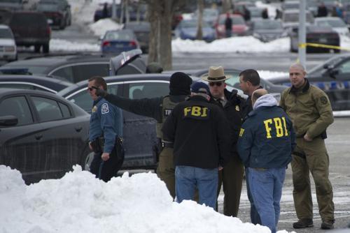 En las afueras se destaca la presencia de agentes Federales (Foto: AFP)