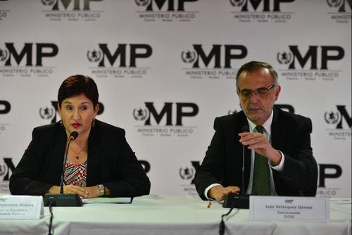 La fiscal general Thelma Aldana y el comisionado de CICIG, Iván Velásquez han presentado los casos en conferencia de prensa. (Foto: Archivo/Soy502)