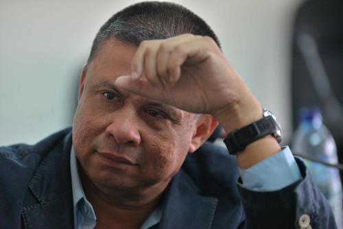 """Edgar Morales alias """"Chico Dólar"""" fue trasladado a Tribunales este lunes 18 de abril para asistir a la audiencia en la Sala de Mayor Riesgo. (Foto: Wilder López/Soy502)"""