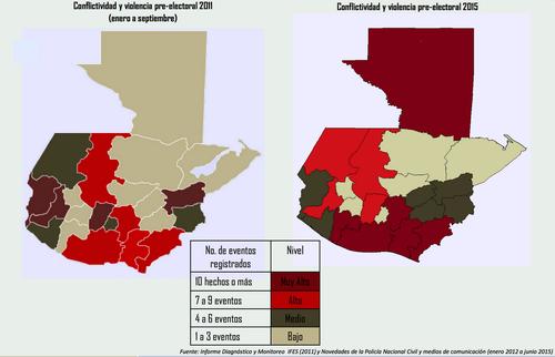 Este es el mapa de conflictividad en 2011 donde se reportaron varios eventos de alto riesgo.  (Foto: IFES)