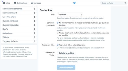 Opción para desactivar la autoreproducción de videos en Twitter. (Foto: Twitter)