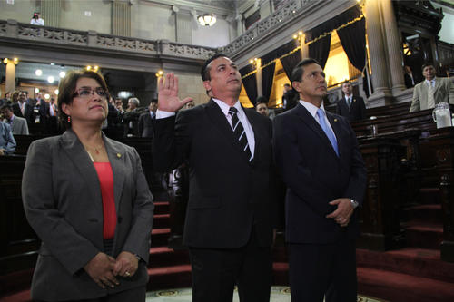 Juramentación del Diputado Rubén Mazariegos. (Foto: Soy502)