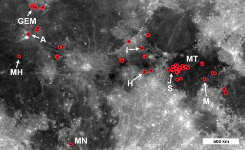 El equipo del LROC estudió la distribución y la frecuencia de estas formaciones. (Foto: LROC)