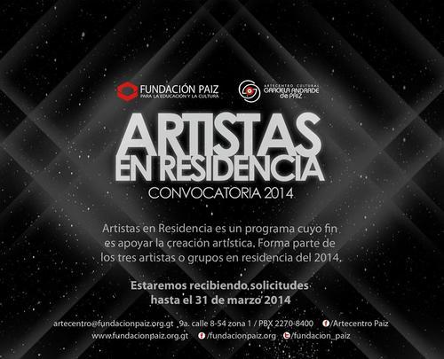"Convocatoria ""Artistas en residencia"" (Foto: facebook/Artecentro)"