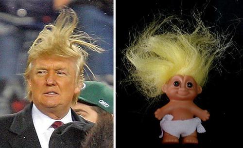 El peinado de Donald Trump ha sido objeto de constantes sátiras y comparaciones. (Foto: www.recreoviral.com)