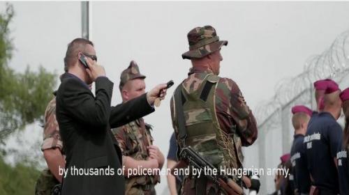 Laszlo Toroczkai, alcalde de una localidad fronteriza en Hungría lanza un video donde amenaza a refugiados sirios que invadan a su territorio.