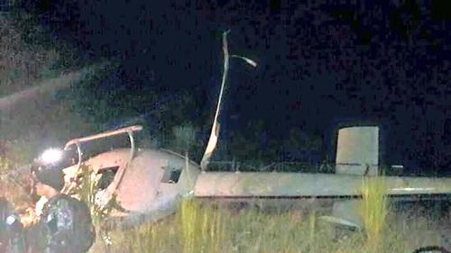 El helicóptero que realizo un aterrizaje de emergencia pertenece a la unidad de Antinarcóticos de la PNC.