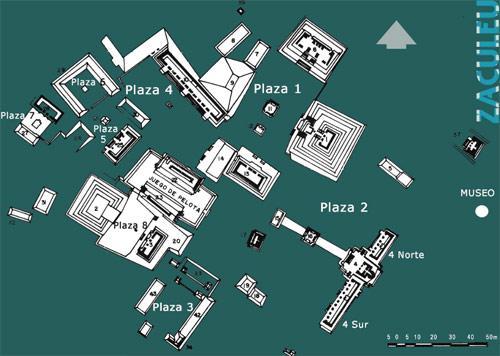 Mapa de Zaculeu. (Foto: DeGuate.com)