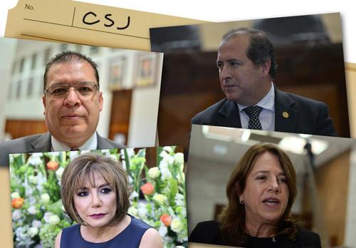 Los magistrados de CSJ contra quienes se presentó denuncia. (Imagen: Soy502)